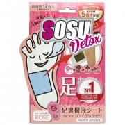 SOSU «Detox» Детокс-патчи для ног с ароматом розы, 6 пар.