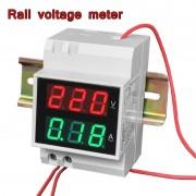 Цифров LED волтметър/амперметър за ел. табло