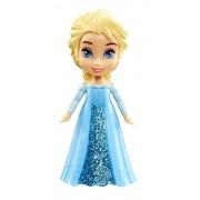 "Disney Princess Poseable Elsa Movie Dress Mini Toddler Glitter Frozen Doll 3"""