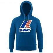 K-Way Pulls printemps/été unisexe Capuche Slimfit Capuche Sean French Terry Macro Logo Bleu Jeans - S