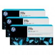HP INC CART.CIANO CHIARO771C DA 775 ML 3PZ