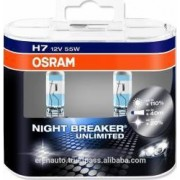 Set 2 becuri auto Osram H7 12V 55W PX26d Night Breaker Unlimited