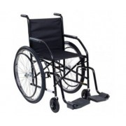 Cadeira de rodas nylon preta - 85 kg