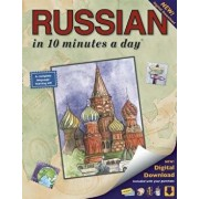 Russian in 10 Minutes a Day: Language Course for Beginning and Advanced Study. Includes Workbook, Flash Cards, Sticky Labels, Menu Guide, Software,, Paperback/Kristine K. Kershul