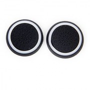 Generic Pair of Game Joystick Thumbstick Cap Caps for Sony PlayStation 4 PS4 Controller--Black + White