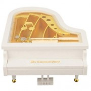 Housesczar Creative Mini Piano Model Music Box Metal Antique Musical Boxes Birthday Wedding Gift Home Decoration