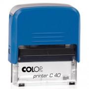 Szövegbélyegző Printer C40 piros ház 23x59 mm