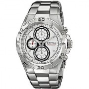 Titan Chronograph White Round Watch -9308sm01