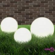 vidaXL LED kuglasta svjetiljka 3 kom 20/30/40 cm PMMA