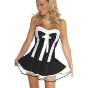Crno bela haljina kostim konobarice RIM0001816