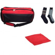 Sports Combo - Sports Bag Face Towel and Pair of Socks
