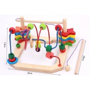 Joyeee® Multicolor Wooden Bead Roller Coaster with Fishing Pretend Play Game - Early Education Toys for Your Kids - Perfect Christmas Gift Ideas