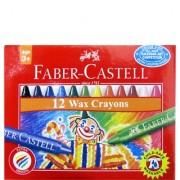 Creioane cerate rotunde 12 culori Faber-Castell