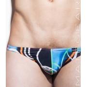 Mategear Kum Ja VIII Special Fabrics Series Mini Bikini Swimwear Black/Blue/Dark Magenta 1541101