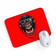 Mouse Pad A Aventura do Macaco Mau Vermelho 24x20