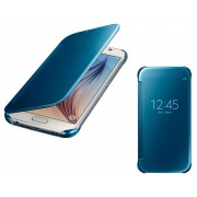 Samsung Custodia per Galaxy S6 G920 Clear View Cover Originale Blu