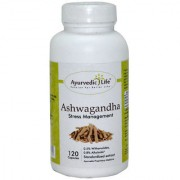 Ayurvedic Life Ashwagandha root capsule 350 mg Hygenically processed Ashwagandha root Powder and extract blend - 120 capsule for stress response Vitality
