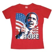 OBAMA - Hope Girly T-shirt, Girly T-shirt