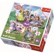 Puzzle Trefl 4 in 1, Lumea Sofiei, 207 piese