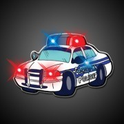 Police Car Flashing Blinking Light Up Body Lights Pins (5-Pack)