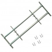 vidaXL Регулируема решетка за прозорец с 2 напречни лоста, 1000-1500 мм