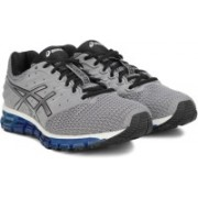 Asics GEL-QUANTUM 180 2 Running Shoe For Men(Grey, Silver)