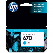 Cartucho Original HP 670-Cian