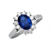 Replika zlatého zásnubního prstenu prince Williama Kate Middletonové s modrým sa