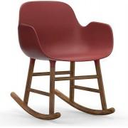 Normann Copenhagen Fotel bujany Form drewno orzechowe czerwony