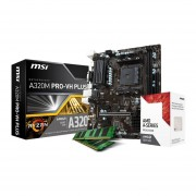 Micro Procesador Amd 3.8 Ghz + Tarjeta Madre Gigabyte A320M-S2H + Memoria Ram 8GB DDR4