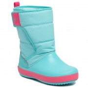 Cizme de zăpadă CROCS - Lodgepoint Snow Boot K 204660 Ice Blue/Pool