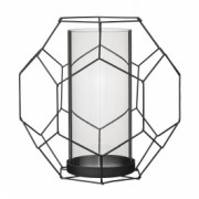 Decoratiune, Negru, Metal, l23xL20,5xH22,5 cm