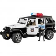 Model automobila Jeep Wrangler Unlimited Rubicon Bruder, policijsko vozilo s policajcem i opremom