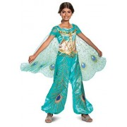 Disguise Disney Jasmine Aladdin Deluxe Girls Costume, Teal