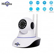 Hiseeu Wireless IP Camera Wifi home security cctv ip camera wi-fi Camera H.265 Baby Monitor P2P support 64G SD card record 30day
