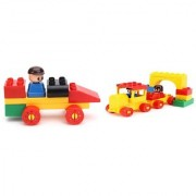 Virgo Toys Play Blocks Car Set And Train Set (Combo)