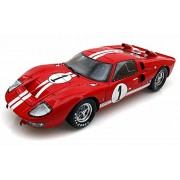 Shelby Collectibles 1966 Ford GT-40 MK II 1, Red w/ White Stripes - SC407 1/18 Scale Diecast Model Toy Car