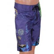 Oxyde Комплект из стильных мужских бермуд синего цвета с принтом и черных плавок слипов Oxyde 225643 синий распродажа