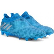Adidas MESSI 16+ PUREAGILITY FG Football Shoes(Blue, Silver)