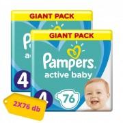 Pampers Active Baby Maxi 4, 9-14 kg HAVI PELENKACSOMAG 2x76 db