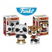 Kung fu panda po y tigresa Funko pop pelicula kung fu panda SET PREMIUM SE ENTREGA CON BOLSA POP PARA REGALO