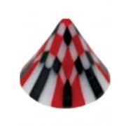 Ruter Black/Red - 5 mm Akrylkula till 1,6 mm stång
