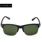 Laurels Clubmaster UV Protected Green Lens Sunglass (Ls-CM-040202)