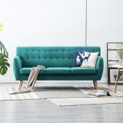 vidaXL 3-местен диван, тапицерия от плат, 172x70x82 см, зелен