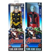 Titans Marvel Titan Hero Series Avengers ANT MAN VS Thor Avengers Action Figure Moveable Series