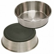 KERBL Gamelle chien ronde Inox Antidérapante Contenance - 1600ml