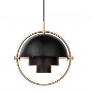 Gubi Multi-Lite Hanglamp Messing / Charcoal Black