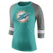 Nike Tri-Blend Raglan (NFL Dolphins) 3/4-Ärmel-T-Shirt für Damen - Grün