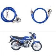 AutoStark Heavy Duty Multi Purpose Goti/Key Helmet Lock (Blue) (Pack of 1) for Bajaj CT 100