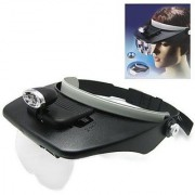 1pc Light Head Magnifying Glass 4 Magnifications